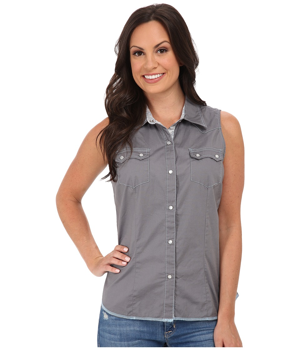 Roper - 9810C1 Solid Gray Poplin (Grey 2) Women's Clothing