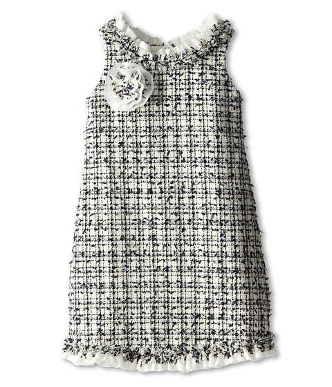 Biscotti - Social Graces Dress (Toddler/Little Kids) (Ivory/Blue) Girl
