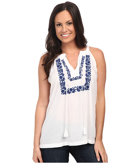 Roper - 9876 Halter Neck Rayon Top (White) Women's Blouse