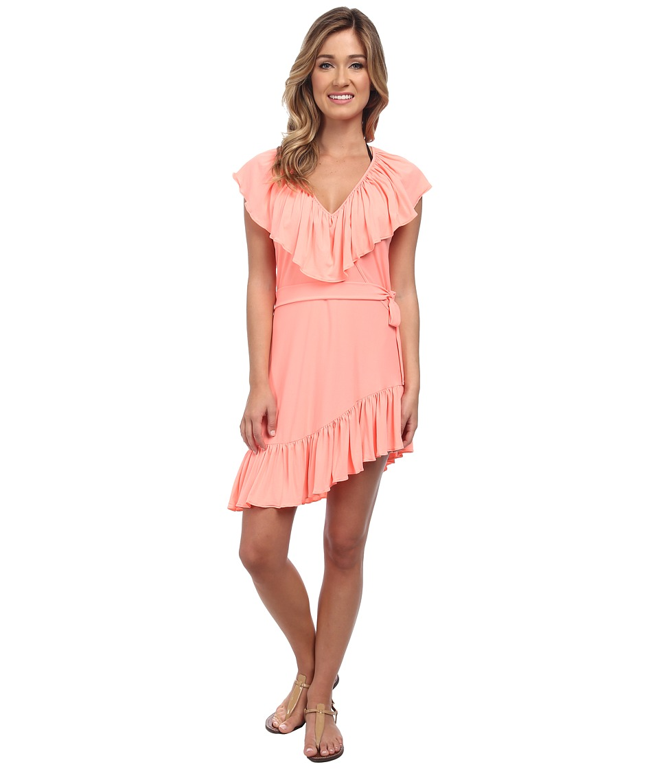 Luli Fama - Cosita Buena Unwrap Me Mini Dress Cover-Up (Miami Peach) Women's Dress