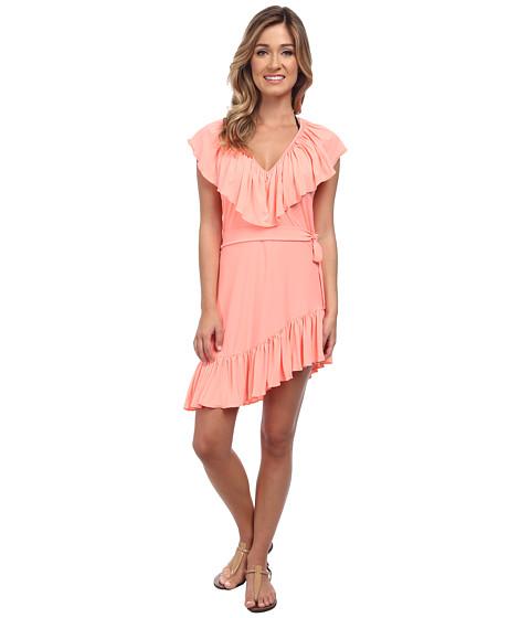 Luli Fama - Cosita Buena Unwrap Me Mini Dress Cover-Up (Miami Peach) Women