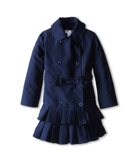 Biscotti - Essential Trench Coat (Toddler/Little Kids) (Navy) Girl