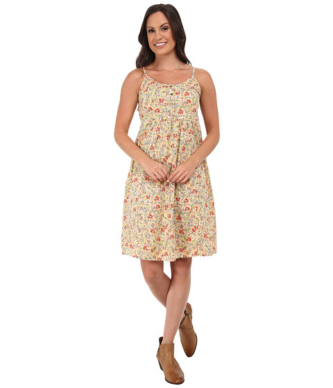Roper - 9756 Coral Ditsy Floral Printed Sun Dress (Red) Women