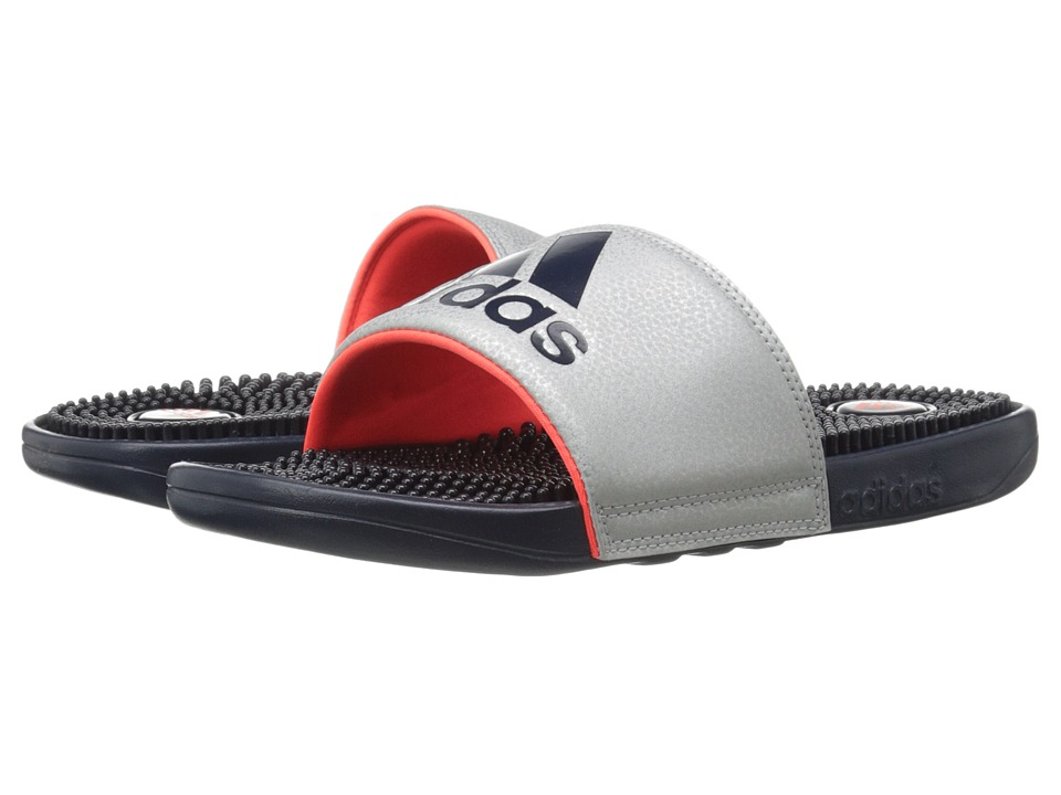 adidas - Voloossage (Silver Metallic/Collegiate Navy/Solar Red) Men's Shoes