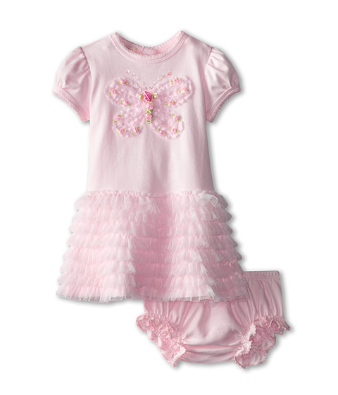 Biscotti - Fly Fly Away Dress And Bloomer (Infant) (Pink) Girl's Active Sets
