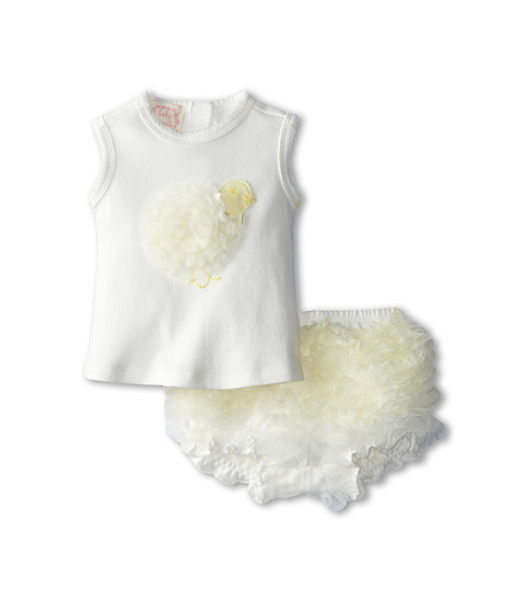 Biscotti - My Little Chickadee Top And Short (Infant) (Ivory) Girl