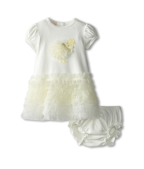 Biscotti - My Little Chickadee Dress And Bloomer (Infant) (Ivory) Girl's Active Sets
