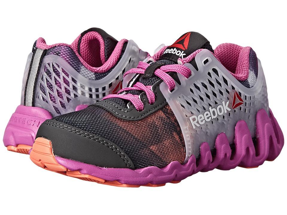 Reebok Kids - ZigTech Big N Fast EX (Little Kid) (Gravel/Ultraberry/Coral/Steel/White) Girls Shoes