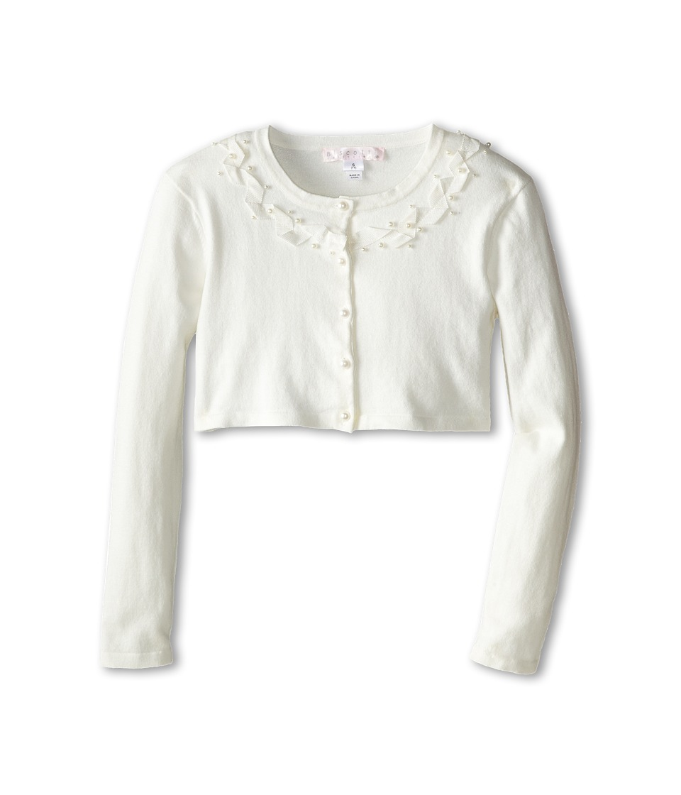 Biscotti - Sheer Bliss Ribbon Sweater (Big Kids) (Ivory) Girl