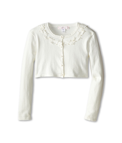 Biscotti - Sheer Bliss Ribbon Sweater (Big Kids) (Ivory) Girl's Sweater