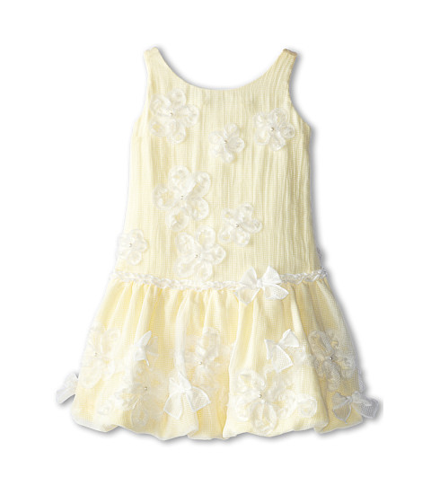 Biscotti - My Sweet Love Drop Waist Dress (Little Kids) (White/Yellow) Girl