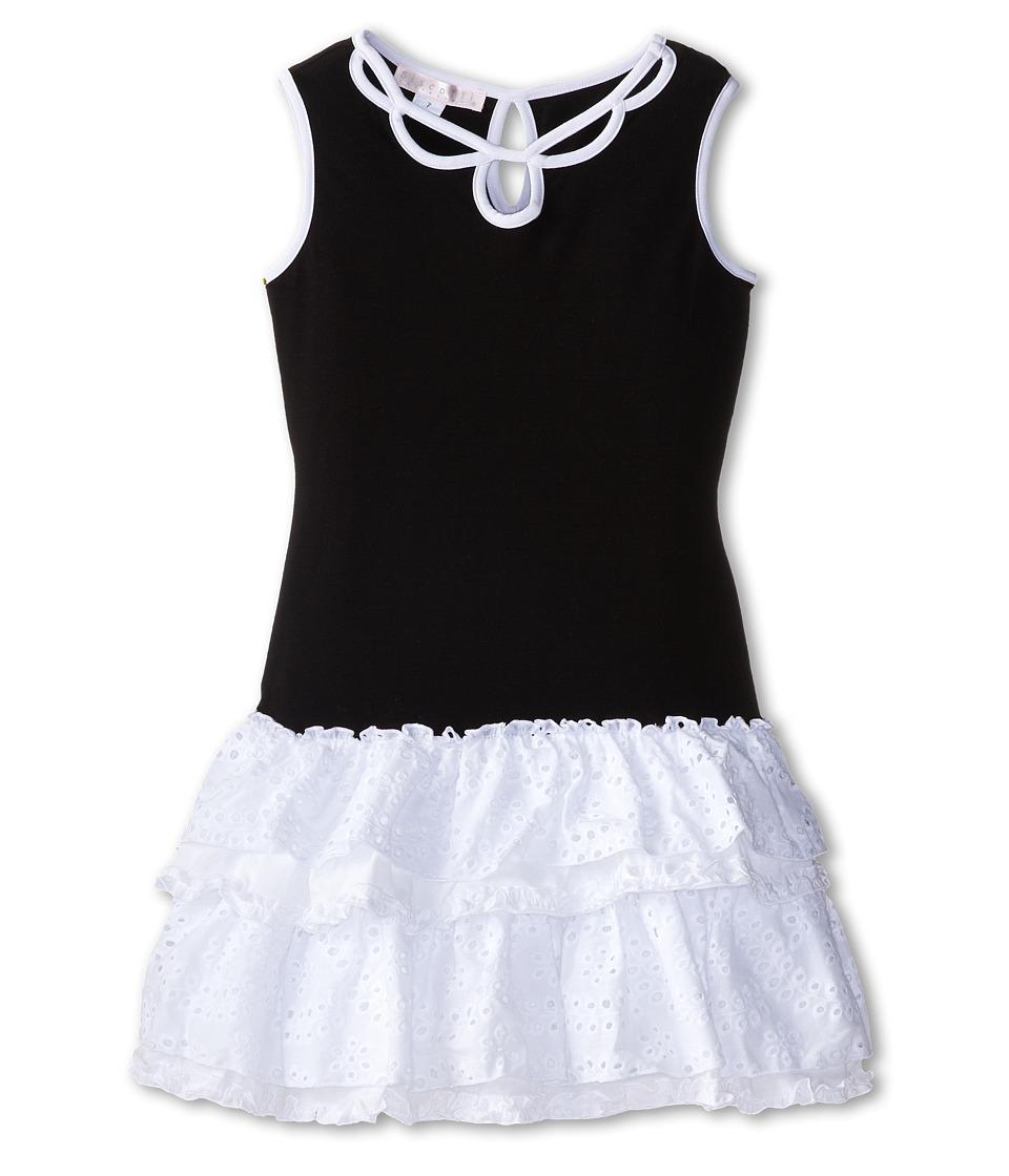 Biscotti - Pretty Chic Eyelet Knit Dress (Big Kids) (Black/White) Girl