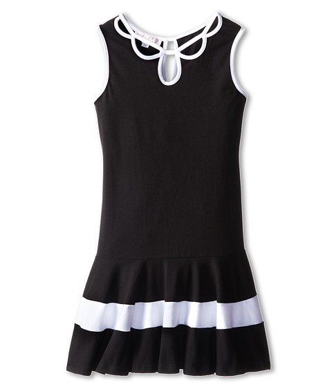 Biscotti - Pretty Chic Knit Dress (Big Kids) (Black/White) Girl