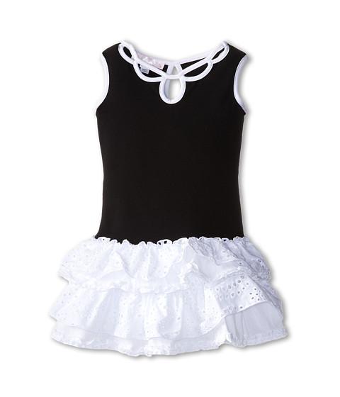 Biscotti - Pretty Chic Eyelet Knit Dress (Little Kids) (Black/White) Girl
