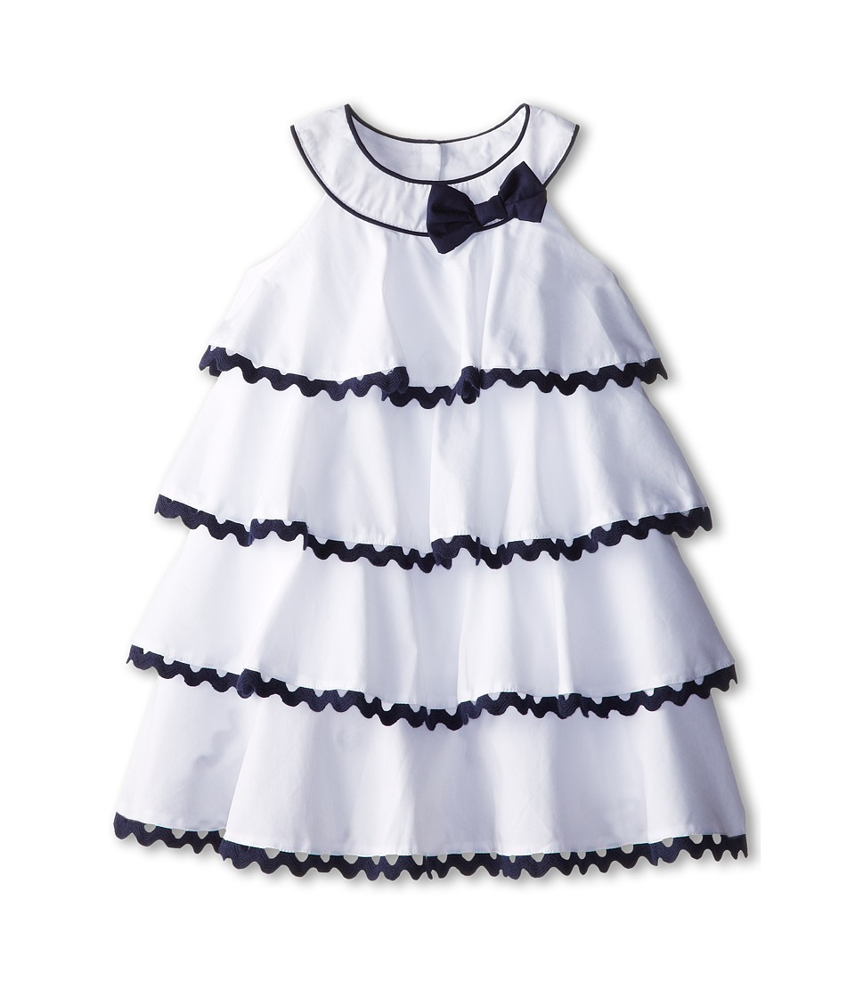 Biscotti - Ric Rac Rhumba Baby Dress (Toddler/Little Kids) (White/Blue) Girl