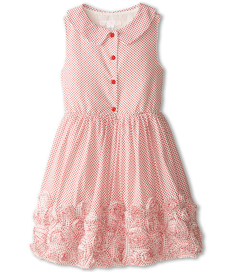 Biscotti - Lots Of Dots Sleeveless Dress (Big Kids) (Red) Girl's Dress