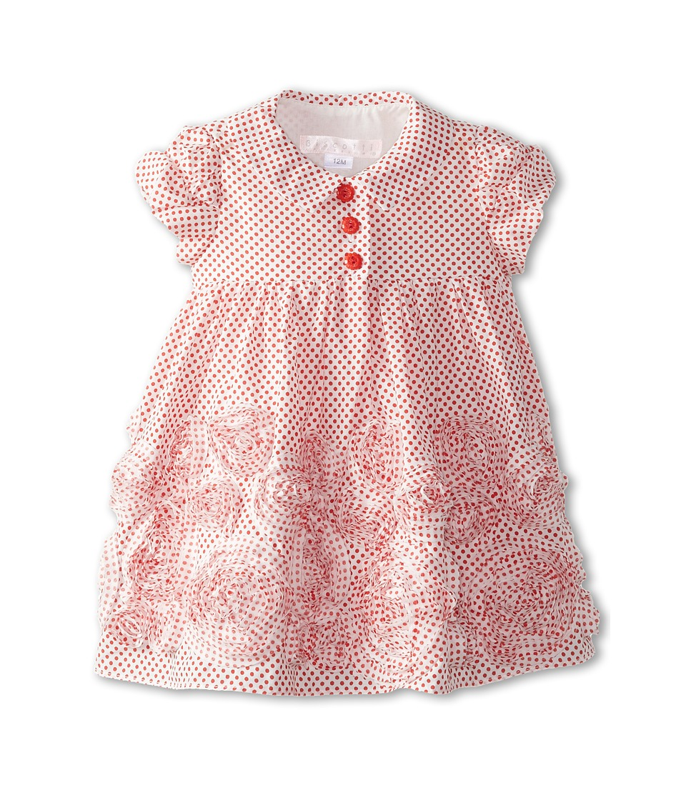 Biscotti - Lots Of Dots S/S Dress (Infant) (Red) Girl