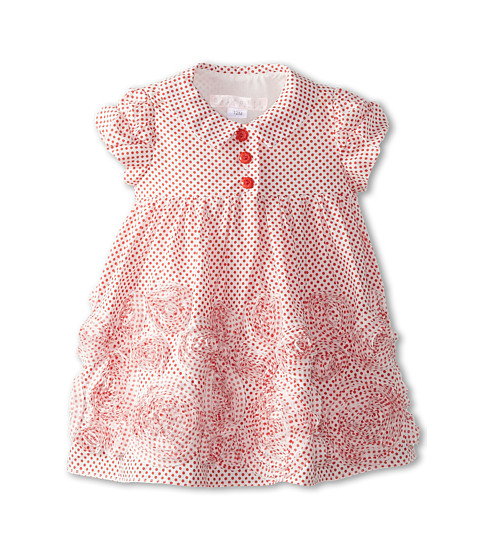 Biscotti - Lots Of Dots S/S Dress (Infant) (Red) Girl's Dress