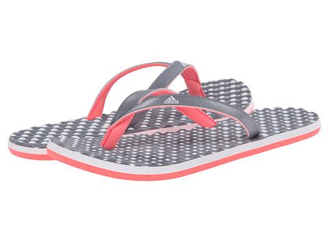 adidas - Eezay Dots (Grey/White/Flash Red) Women's Shoes