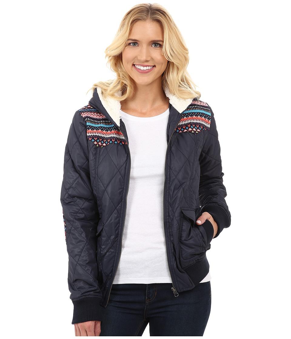 Roper - 9890 Poly Shell Jacket w/ Hoodie (Blue) Women