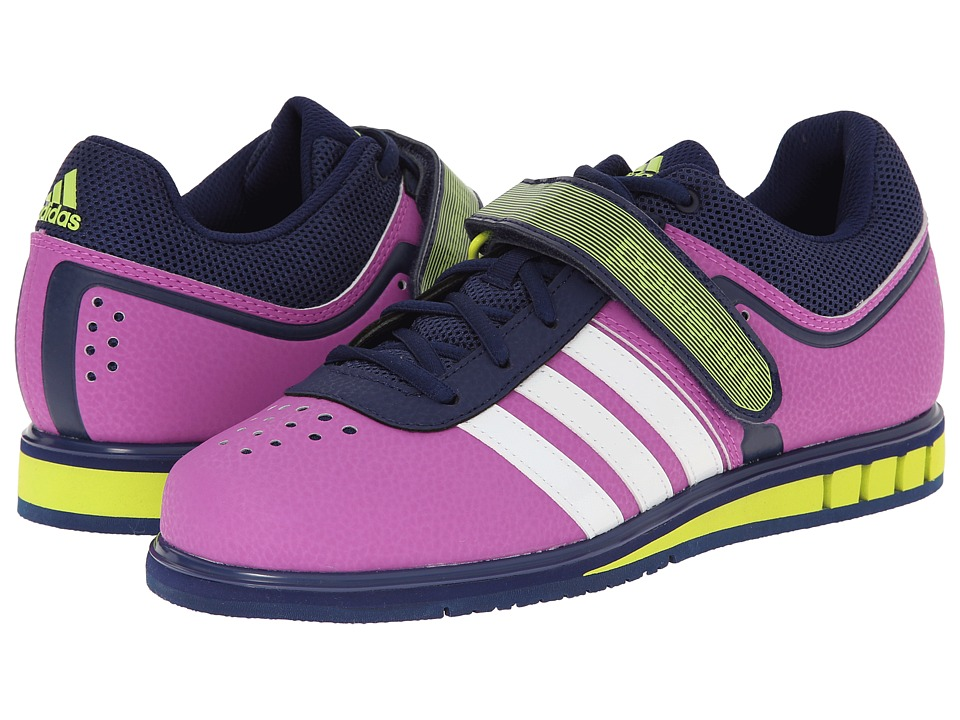adidas - Powerlift 2 (Flash Pink/Running White/Semi Solar Yellow) Women's Shoes
