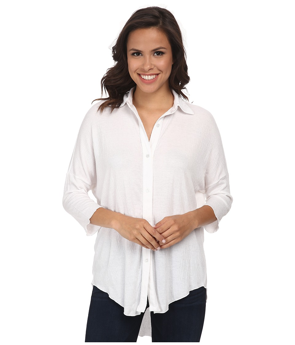 LNA - Dolman Button Up (White) Women's Long Sleeve Button Up