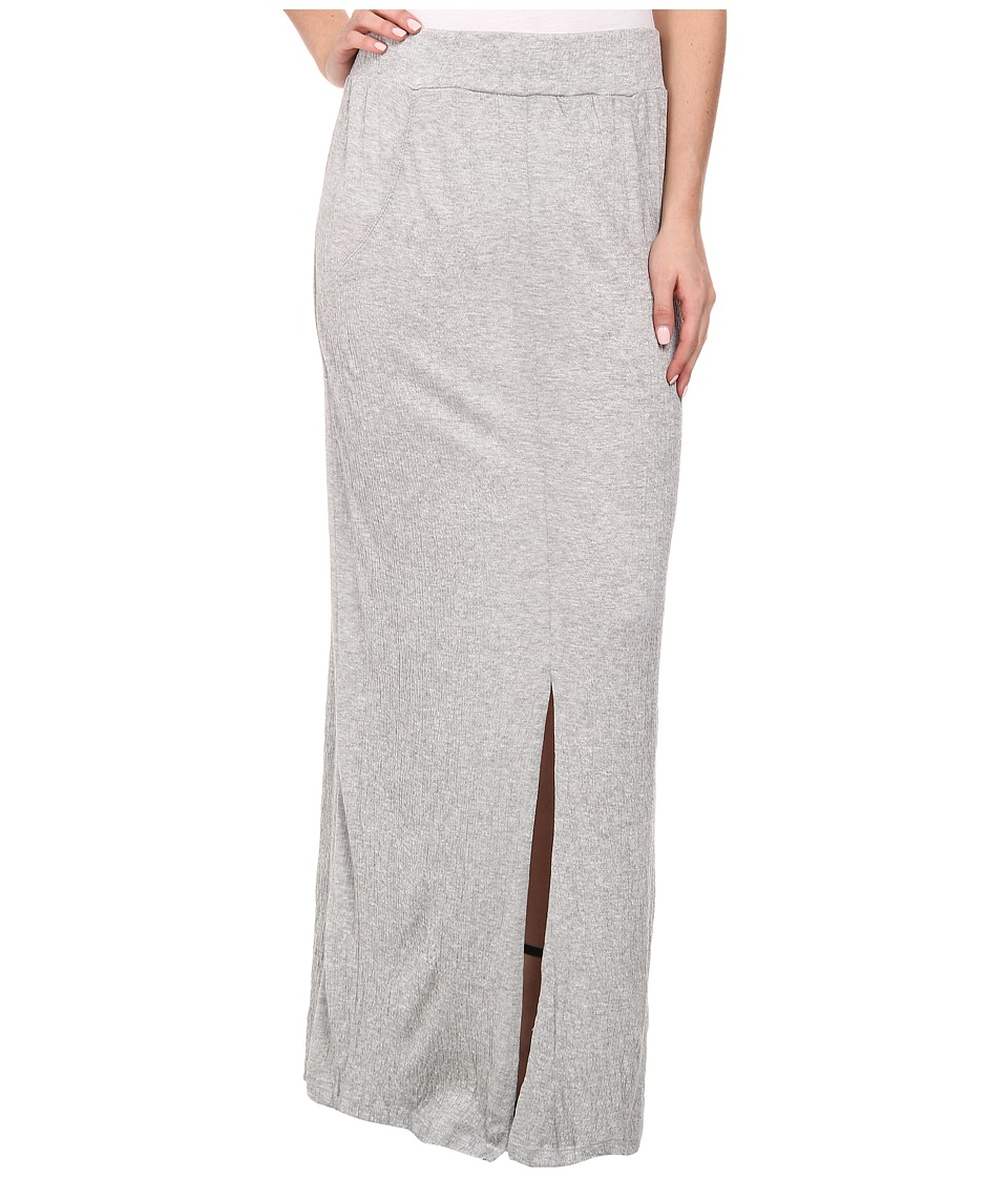 LNA - Gauze Column Skirt (Heather Grey) Women's Skirt