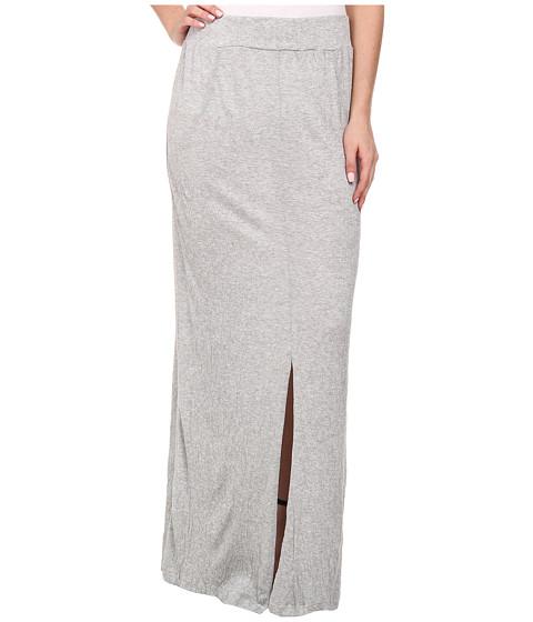 LNA - Gauze Column Skirt (Heather Grey) Women's Skirt