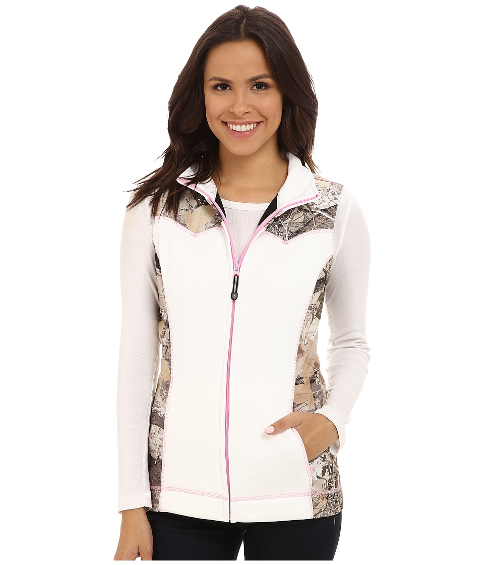 Roper - White Bonded Fleece Vest (White) Women's Vest