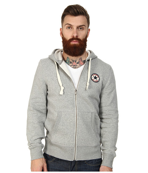 Converse - Core Chuck Patch FZ Fleece (Heather Grey) Men's Sweatshirt