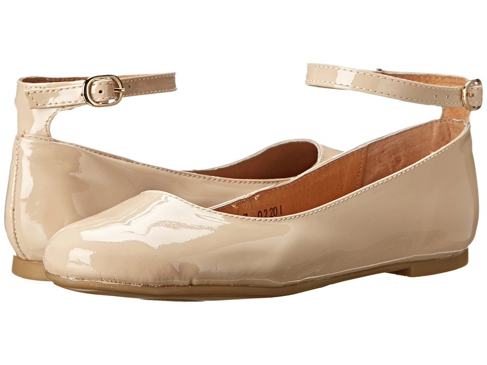 Fitzwell - Carmene Strap (Nude Patent) Women's Flat Shoes