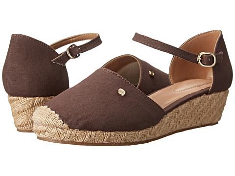 Fitzwell - Clarisa (Mocha Canvas) Women's Flat Shoes