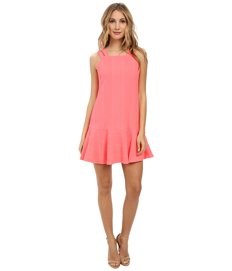 Nanette Lepore - Floatin' Cloud Dress (Neon Coral) Women's Dress