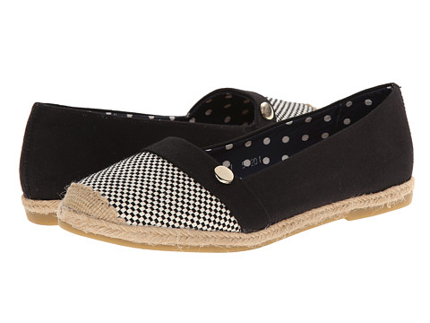 Fitzwell - Amelia (Black Woven) Women's Flat Shoes