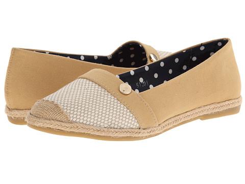 Fitzwell - Amelia (Beige Woven) Women's Flat Shoes