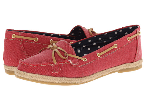 Fitzwell - Joanna (Red Canvas) Women's Flat Shoes