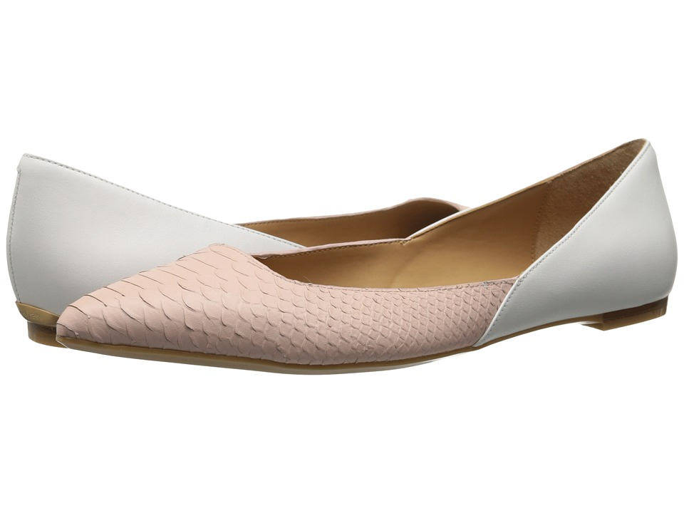 Calvin Klein - Galice (Dusty Pink/Platinum White Baby Python) Women's Dress Flat Shoes