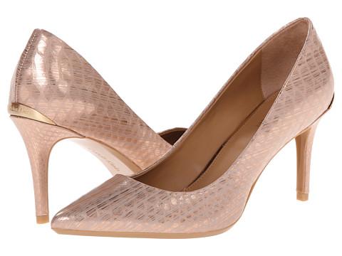 Calvin Klein - Gayle (Rosegold Painted Snake) High Heels