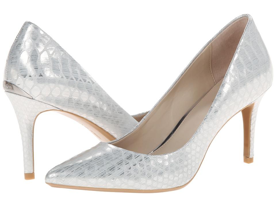 Calvin Klein - Gayle (Silver Painted Snake) High Heels