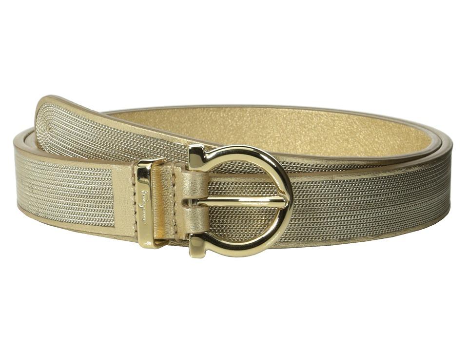Salvatore Ferragamo - 23B294 (Oro Opaco) Women's Belts
