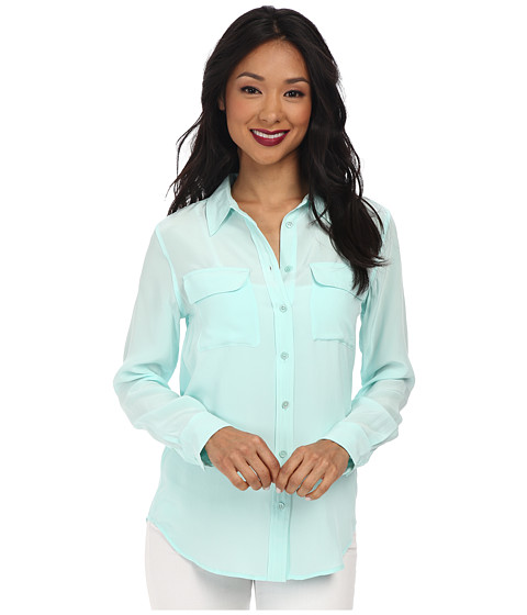 EQUIPMENT - Slim Signature Blouse (Spearmint) Women