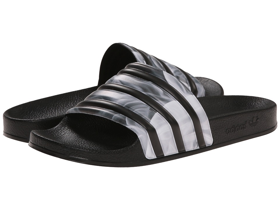 adidas Originals - Adilette W Rita Ora (Black/Black/White Multi Snake) Women