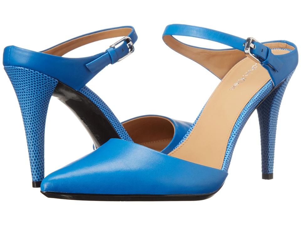 Calvin Klein - Ginnie (Klein Blue Cow Silk) High Heels
