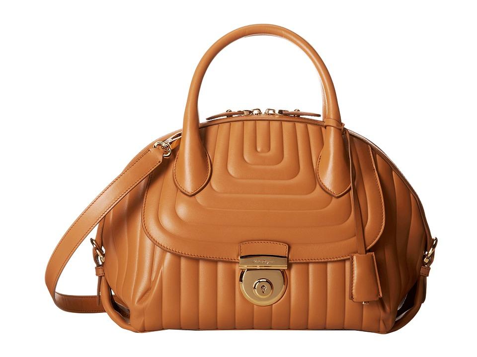 Salvatore Ferragamo - 21F246 Fiamma (Sienne) Handbags