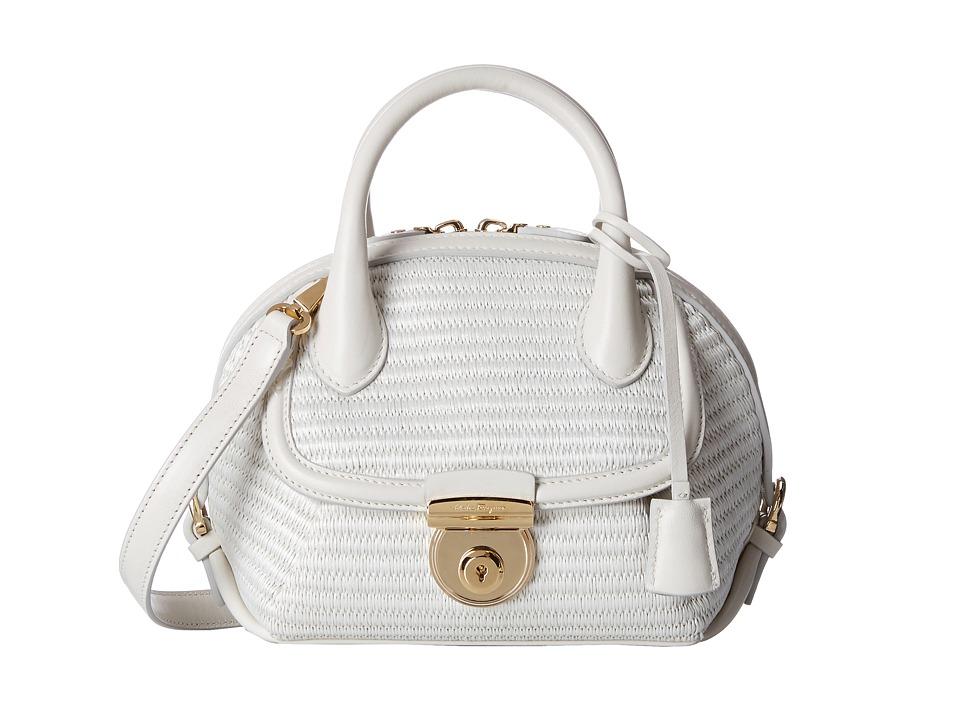Salvatore Ferragamo - 21F214 Fiamma (Bianco Avorio) Handbags