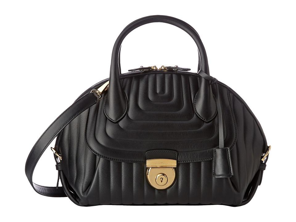 Salvatore Ferragamo - 21F246 Fiamma (Nero) Handbags