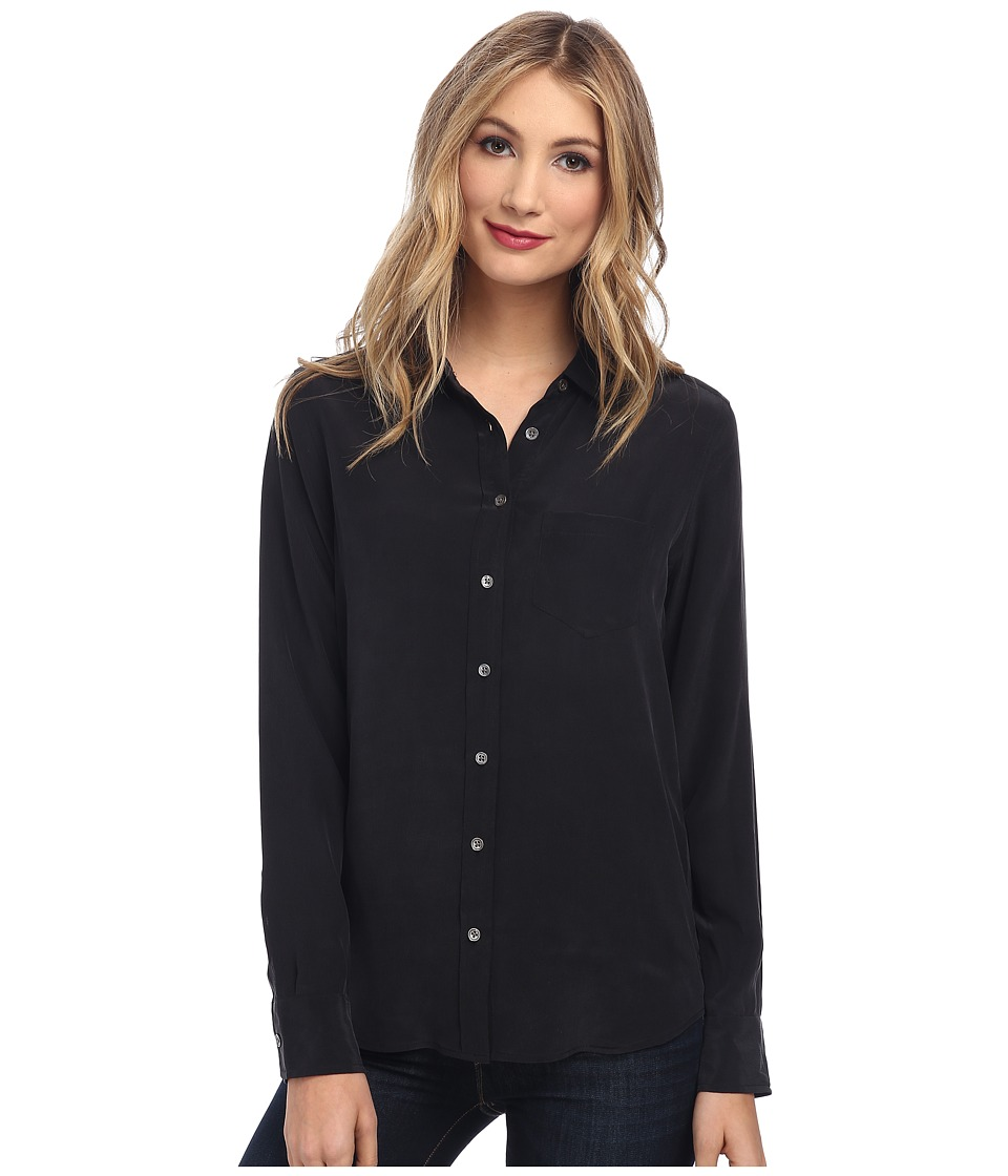 EQUIPMENT - Brett L/S Blouse (True Black) Women's Blouse