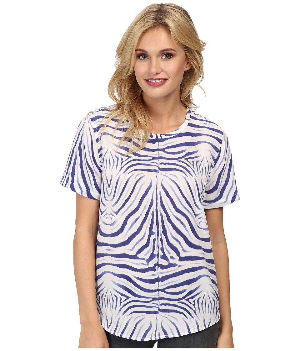 EQUIPMENT - Riley Tee (Bright White Multi) Women