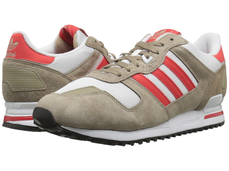adidas Originals - ZX 700 (St Cargo Khaki/Red/White) Men's Classic Shoes
