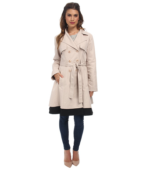 Nanette Lepore - Mesmerizing Trench (Camel/Black) Women's Coat